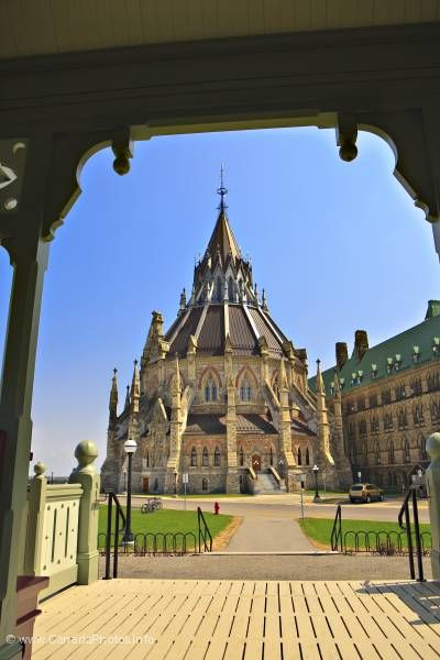 photo of Parliament Library Ottawa Canada