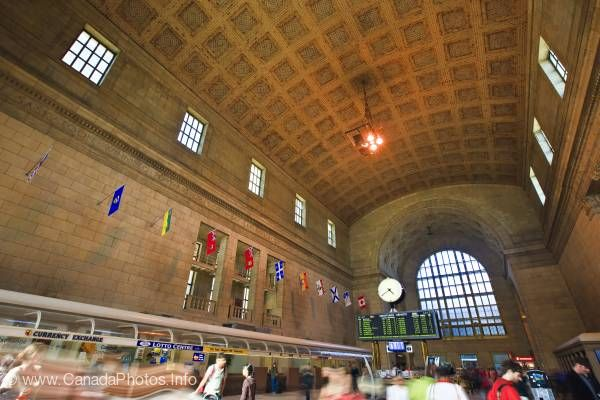 photo of Union Station Rail Station Downtown Toronto Ontario