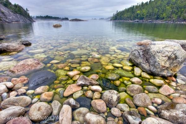 photo of HDR Rocky Shoreline Lake Superior Ontario
