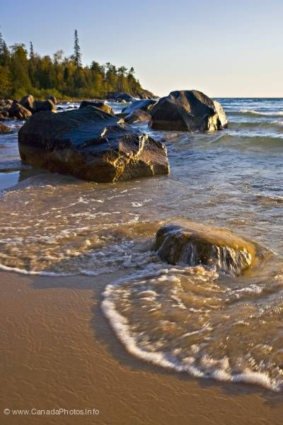 photo of Scenic Photo Lake shore Lake Superior Ontario