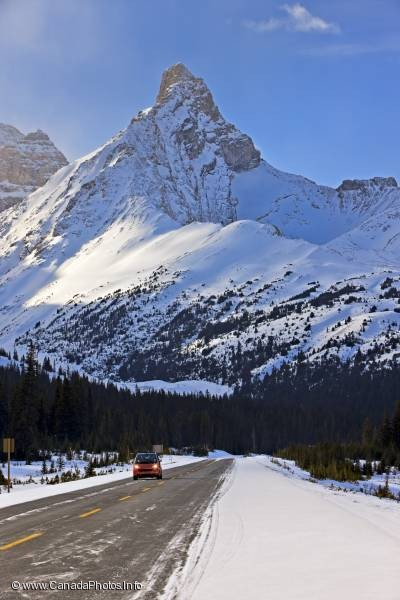 photo of Icefields Parkway Smart Car Mountain Peak Alberta