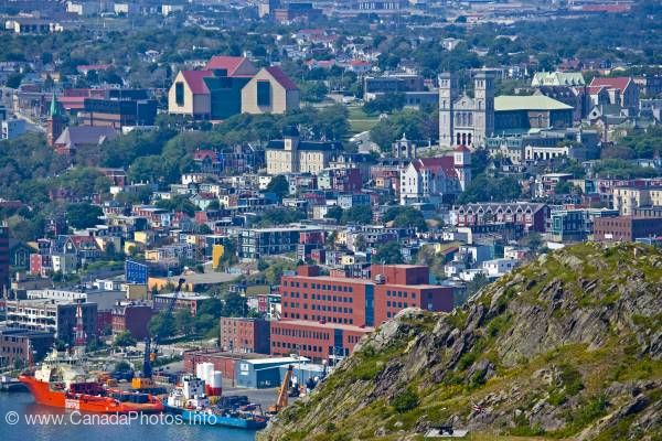 photo of View City of St. John's Newfoundland Canada