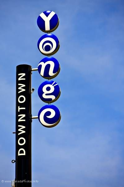 photo of Yonge Street Sign Downtown Toronto Ontario