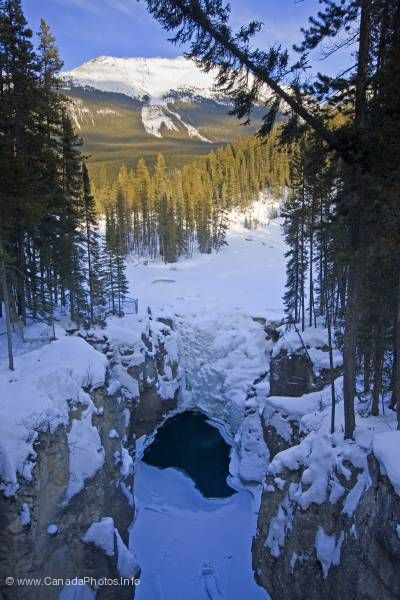 photo of Winter Sunwapta Falls Jasper National Park