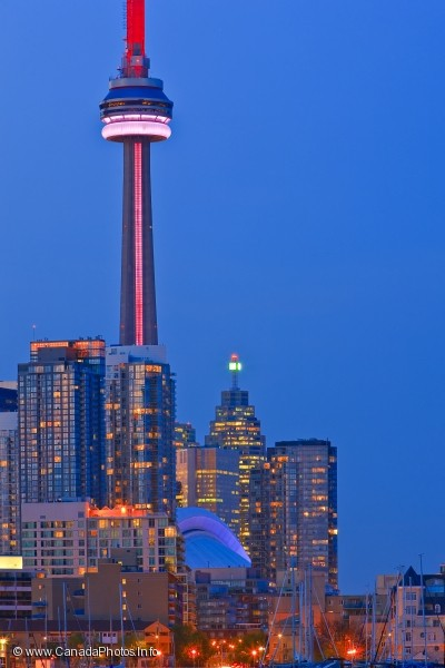 photo of Toronto Skyline At Dusk