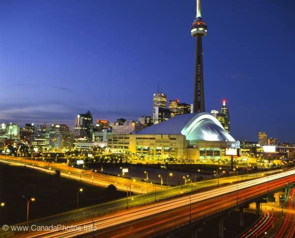 photo of Toronto Twilight Highway City Shot