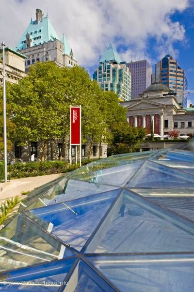 photo of Downtown Vancouver British Columbia Robson Square Picture