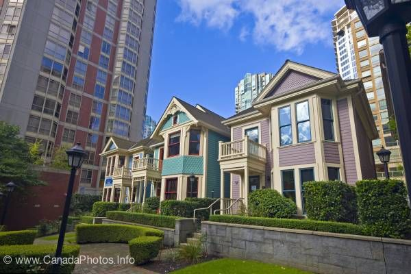 photo of Victorian Architecture Houses Downtown Vancouver