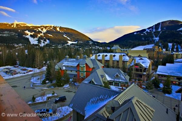 photo of Whistler Village winter photo British Columbia