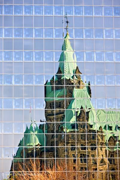 photo of Window Reflections Confederation Building Ottawa