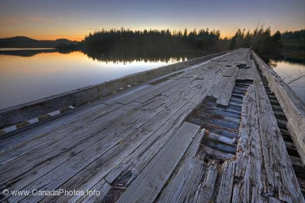 photo of Scenic Old Wooden Bridge Clayoquot Sound