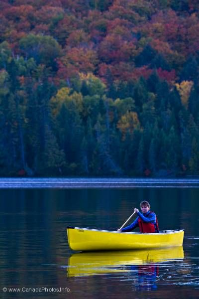 photo of Canoeing Yellow Canoe Rock Lake Algonquin